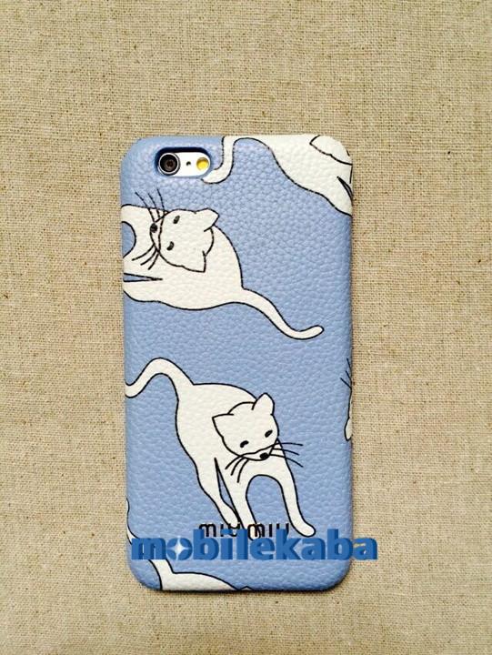 ミュウミュウ iPhone8/6  ケースmiumiu猫ネコミュウミュウiPhoneX/iPhone8/7Plusケース鳥