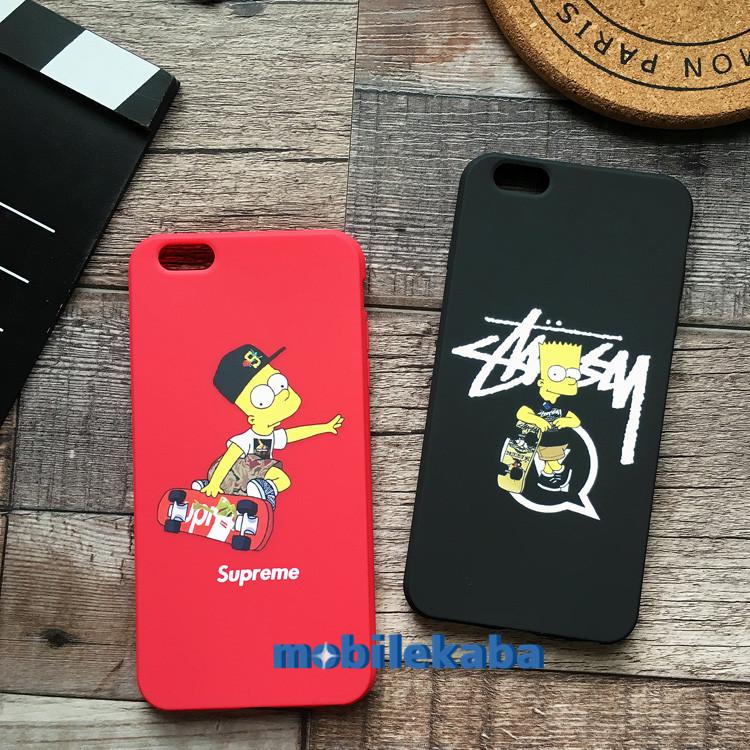 Stussy·Supremeコラボストリート系iPhoneX/iPhone8/7Plusケース ブランドレッド赤