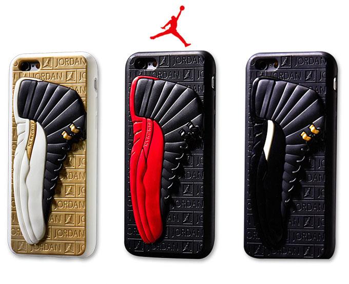 運動風 エアジョーダン Air Jordan 12 スニーカー 靴 3D立体感スニーカー デザインiPhoneX/8/7 個性 カッコイイ よい配色 iPhoneX iPhone8 iPhone7 ケース