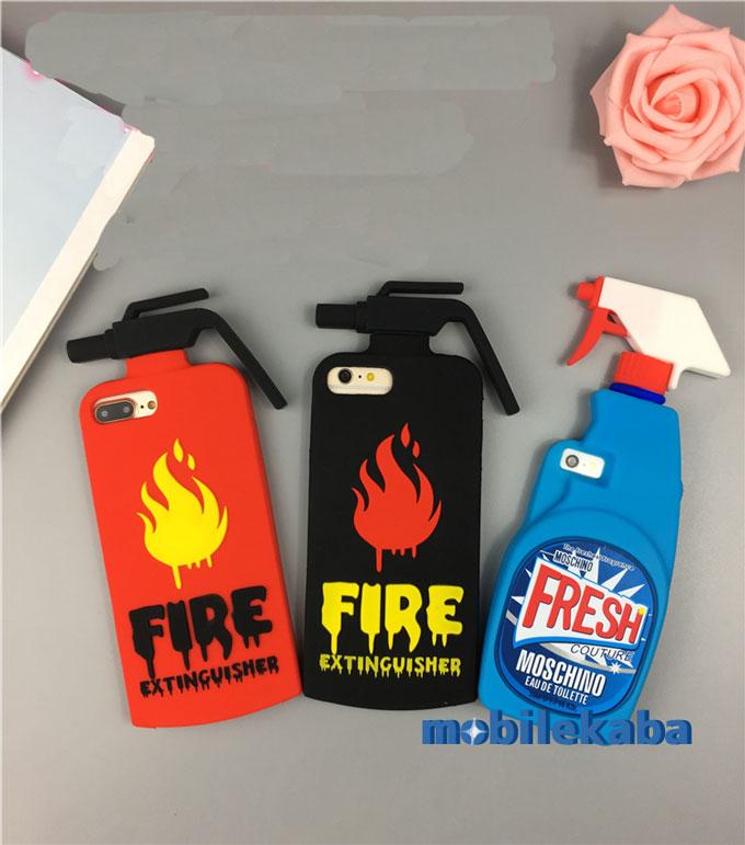 洗剤ボトル型シリコンiPhoneX/iPhone8/7/6s 消火器型